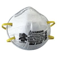 3M™ Personal Safety Division N95 Particulate Respirators - N95 Particulate Respirators, Half Facepiece, Two fixed straps, Sm - 142-8110S - 3M