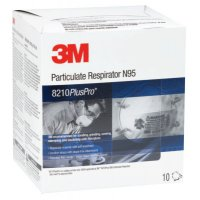 3M™ Personal Safety Division N95 Particulate Respirators - N95 Particulate Respirators, Half Facepiece, Non-Oil Based Filter - 142-8210PLUSPRO - 3M