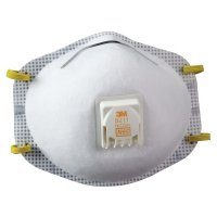 3M™ Personal Safety Division N95 Particulate Respirators - N95 Particulate Respirators, Half Facepiece, Non-Oil Filter, White - 142-8211 - 3M