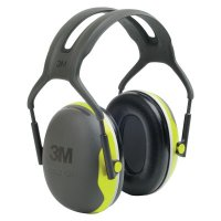 3M™ Personal Safety Division PELTOR™ X Series Ear Muffs - PELTOR X Series Ear Muffs, 27 dB NRR, Black/Hi-Viz Yellow, Over the Head - 247-X4A - 3M