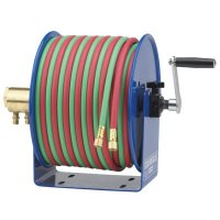 Twin-Line Welding Hose Reels, 100 ft, Hand Crank, Hose Included - 170-112W-1-100 - Coxreels®