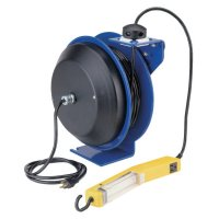 Coxreels® PC13 Series Power Cord Reels - PC13 Series Power Cord Reels, 12/3 AWG, 20 A, 50 ft, Single Industrial Plug - 170-PC13-5012-A - Coxreels®