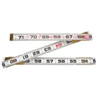 Crescent/Lufkin® Red End® Two Way® Rulers - Red End Two Way Rulers, 6 ft, Wood - 182-966N - Apex Tool Group