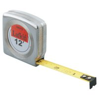 Crescent/Lufkin® Mezurall® Measuring Tapes - Mezurall® Measuring Tapes, 1/2 in x 12 ft, Chrome - 182-W9212 - Apex Tool Group