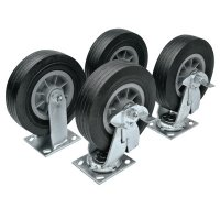 JOBOX® Heavy-Duty Casters - Heavy-Duty Casters, 6 in, 2 Fixed; 2 Swivel - Apex Tool Group - 217-1-321990