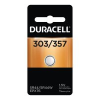 Duracell® Watch/Electronic Batteries - Watch/Electronic Batteries, Silver Oxide, 1.5 V, 357/303 - Duracell® - 243-D303/357PK