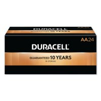 Duracell® CopperTop® Alkaline Batteries with DuraLock Power Preserve™ Technology - CopperTop Batteries, DuraLock Power Preserve Alkaline, 1.5 V, AA - Duracell® - 243-MN1500BKD