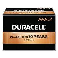 Duracell® CopperTop® Alkaline Batteries with DuraLock Power Preserve™ Technology - CopperTop Batteries, DuraLock Power Preserve Alkaline, 1.5 V, AAA - 243-MN2400BKD - Duracell®