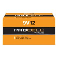Duracell® Procell® Batteries - Duracell Procell Batteries, Non-Rechargeable Dry Cell Alkaline, 9V - Duracell® - 243-PC1604BKD