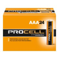 Duracell® Procell® Batteries - Duracell Procell Batteries, Non-Rechargeable Alkaline, 1.5 V, AAA - Duracell® - 243-PC2400BKD