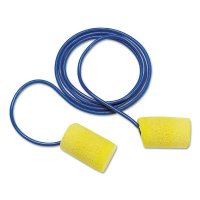 E-A-R Classic Plus Foam Earplugs, PVC, Yellow, Corded - 247-311-1105 - 3M