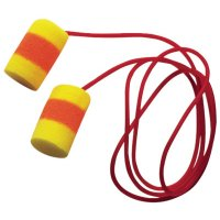 3M™ Personal Safety Division E-A-R™ Classic™ SuperFit 30™ Foam Earplugs - E-A-R Classic SuperFit 30 Foam Earplugs, PVC, Red/Yellow, Corded - 247-311-1126 - 3M