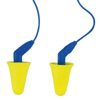 3M™ Personal Safety Division E-A-R™ Push-Ins SofTouch Earplugs - E-A-R Push-Ins SofTouch Earplugs, Polyurethane, Blue/Yellow, Corded - 247-318-4001 - 3M