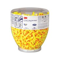 3M™ Personal Safety Division E-A-Rsoft™ Yellow Neons™ Foam Earplugs - E-A-Rsoft Yellow Neons Foam Earplugs, Polyurethane, Uncorded, Clear Bottle - 247-391-1010 - 3M