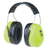 3M™ Personal Safety Division Optime 105 Earmuffs - Optime 105 Earmuffs, 30 dB NRR, Black/Red, Over the Head - 247-H10A - 3M