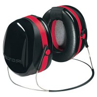 3M™ Personal Safety Division Optime 105 Earmuffs - Optime 105 Earmuffs, 29 dB NRR, Black/Red, Behind the Head - 247-H10B - 3M