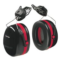 3M™ Personal Safety Division Optime 105 Earmuffs - Optime 105 Earmuffs, 27 dB NRR, Black/Red, Cap Attached - 247-H10P3E - 3M