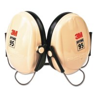 3M™ Personal Safety Division PELTOR™ Optime™ 95 Earmuffs - Optime 95 Earmuffs, 21 dB NRR, White/Black, Behind the Head - 3M - 247-H6B/V