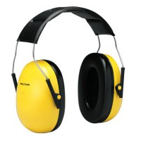 3M™ Personal Safety Division Optime 98 Earmuffs - Optime 98 Earmuffs, 25 dB NRR, Yellow, Over the Head - 247-H9A - 3M