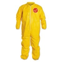 DuPont™ Tychem® QC Coveralls with Elastic Wrists and Ankles - Tychem QC Coveralls with Elastic Wrists and Ankles, 3X-Large, Yellow - 251-QC125S-3X - DuPont™