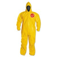 DuPont™ Tychem® 2000 Coveralls with Attached Hood - Tychem 2000 Coveralls with Attached Hood, 3X-Large, Yellow - 251-QC127B-3X - DuPont™
