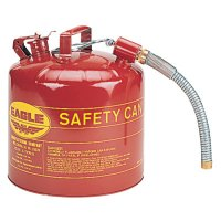 Eagle Mfg Type ll Safety Cans - Type ll Safety Cans, Flammable Storage Can, 5 gal, Red, 7/8 in. Flex Metal Spout - 258-U2-51-S - Eagle Mfg