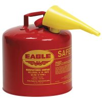 Eagle Mfg Type l Safety Cans - Type l Safety Cans, Diesel, 5 gal, Yellow - Eagle Mfg - 258-UI-50-SY