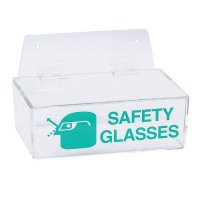 Brady Safety Glasses Dispenser - Safety Glasses Holders, 9 in x 6 in x 3 in, Green/Clear - 262-2011L - Brady