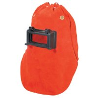 Honeywell Fibre-Metal® Leather Welding Hoods - Leather Welding Hoods, Orange - 280-870 - Honeywell