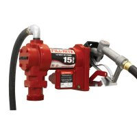 Fill-Rite® Rotary Vane Pumps with Hose and Manual Nozzle - Rotary Vane 115 Volt AC Pumps w/ Hose and Manual Nozzle, 3/4 in, 12 ft Hose - 285-FR1210G - Fill-Rite®
