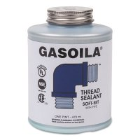 Gasoila® Chemicals Soft-Set Thread Sealants - Soft-Set Thread Sealants, 1 pt Brush Top Can, Blue/green - 296-SS16 - Gasoila® Chemicals