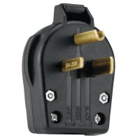 Cooper Wiring Devices Plugs and Receptacles - Angle Grounding Plug - 309-S42-SP - Cooper Wiring Devices