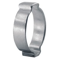 "Oetiker 2-Ear Clamps, Zinc-Plated - 2-Ear Clamps, Zinc-Plated, 15/16 in Dia, 0.984""W, Steel - 320-10100032 - Oetiker"