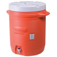 Rubbermaid Home Products Water Coolers - Water Coolers, 5 gal, Cup Holder, Orange - 325-1841106 - Newell Rubbermaid™