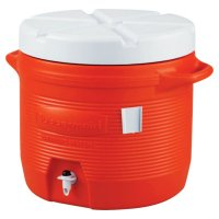 Rubbermaid Commercial Plastic Water Coolers - Plastic Water Coolers, 7 gal, Orange - 325-1655-01-11 - Newell Rubbermaid™