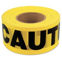 C.H. Hanson® Barricade Tapes - Barricade Tape, 3 in x 1,000 ft, Yellow, Caution - 337-16000 - C.H. HANSON®