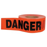C.H. Hanson® Barricade Tapes - Barricade Tape, 3 in x 1,000 ft, Red, Danger - 337-16003 - C.H. HANSON®