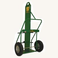 Saf-T-Cart Large Cylinder Carts - Large Cylinder Cart, Holds 12-1/2 in Cylinder - 339-871-16FW-LE - Saf-T-Cart™