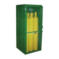 Saf-T-Cart Cylinder Storage Cages - Cylinder Storage Cages, Holds 9 Cylinders, 72 in x 34 in x 32 in - 339-ESTS-9 - Saf-T-Cart™