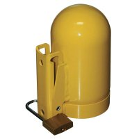 Saf-T-Cart Cylinder Caps - Cylinder Caps, Steel, Low Pressure, 3 1/2 in dia., Yellow - 339-SC2FNNP-12 - Saf-T-Cart