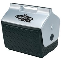 Igloo Playmate® The Boss® Coolers - Playmate The Boss Coolers, 14 qt, Black/Silver - 385-43581 - Igloo