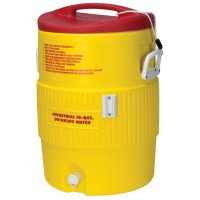 Igloo Heat Stress Solution™ Water Coolers - Heat Stress Solution Water Coolers, 10 Gallon, Red and Yellow - 385-48154 - Igloo