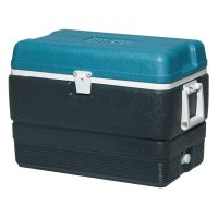 Igloo MaxCold® Extended Performance Coolers - MaxCold® Extended Performance Coolers, 50 qt, Jet Carbon/Ice Blue/White - 385-49492 - Igloo