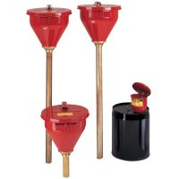 Large Funnel w/Self-Closing Cover; Safety Drum Funnel w/Brass Flame Arrestor - 400-08207 - Justrite