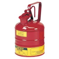 Justrite Type l Safety Cans for Flammables - Type l Safety Cans for Flammables, Storage Can, 1 gal, Red, Flame Arrestor - Justrite - 400-10301