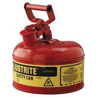 Justrite Type I Safety Cans - Type I Safety Cans, Flammables, 1 gal, Red - Justrite - 400-7110100