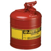 Justrite Type I Safety Cans - Type I Safety Cans, Flammables, 5 gal, Red - Justrite - 400-7150100
