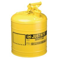 Justrite Type I Safety Cans - Type I Safety Cans, Diesel, 5 gal, Yellow - 400-7150200 - Justrite