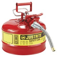Justrite Type II AccuFlow™ Safety Cans - Type II AccuFlow Safety Cans, Flammables, 2 1/2 gal, Red - 400-7225120 - Justrite