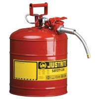 Justrite Type II AccuFlow™ Safety Cans - Type II AccuFlow Safety Cans, Flammables, 5 gal, Red - 400-7250120 - Justrite